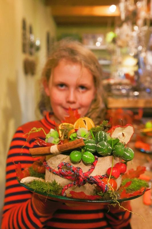 Ellen Deelen natuurlijke bloem-creaties trots op het resultaat