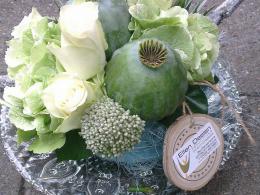 Ellen Deelen natuurlijke bloem-creaties detail aankleding statafell